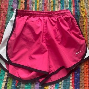 pink and black nike shorts